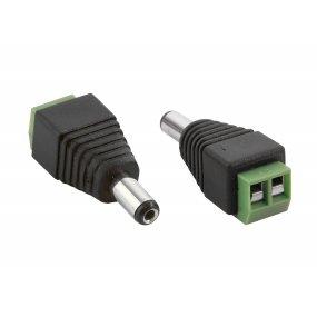 NEOSTAR Strom-Adapter, DC-Adapter, DC-Stecker 2.1mm/5.5mm auf Lüsterklemme 2-pol. (männlich)