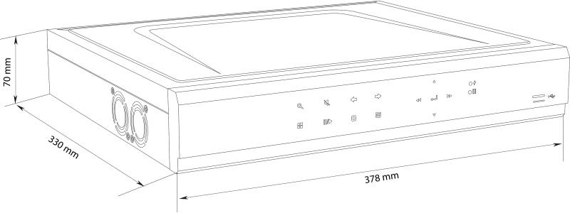 BALTER 16-Kanal PoE 4K NVR, 3840×2160p, H.265, P2P, Intelligente Suche, Balter CMS, HDMI 4K, 230V AC