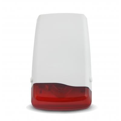 NEOSTAR PRO Aussensirene mit Blitzlicht, 110dB Lautstärke, Sabotagekontakte Front- und Rückseite