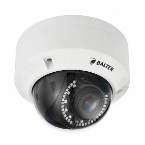 BALTER 4.0MP IR IP Dome-Kamera, 2.8-12mm Motorzoom, 2592x1520p, Nachtsicht 30m, WDR, H.265, PoE/12V DC, IP66