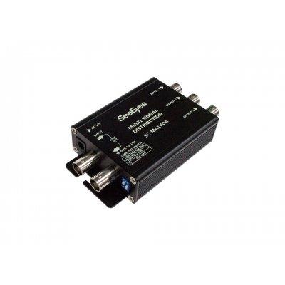 4-fach Signalverteiler, unterstützt HD-TVI, AHD, HD-CVI und analoge Signalübertragung, Signalverstärkung bis zu 600m
