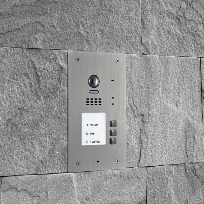 BALTER EVIDA Silber RFID Edelstahl-Türstation für 3 Teilnehmer, 2-Draht BUS