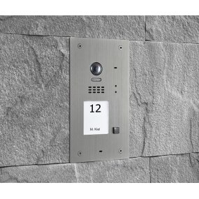 BALTER EVIDA Silber RFID Edelstahl-Türstation für 1 Teilnehmer, 2-Draht BUS Technologie