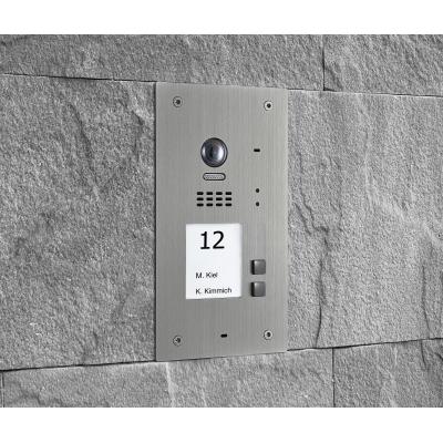 BALTER EVIDA Silber RFID Edelstahl-Türstation für 2 Teilnehmer, 2-Draht BUS Technologie (Video / Audio / Strom), 170°