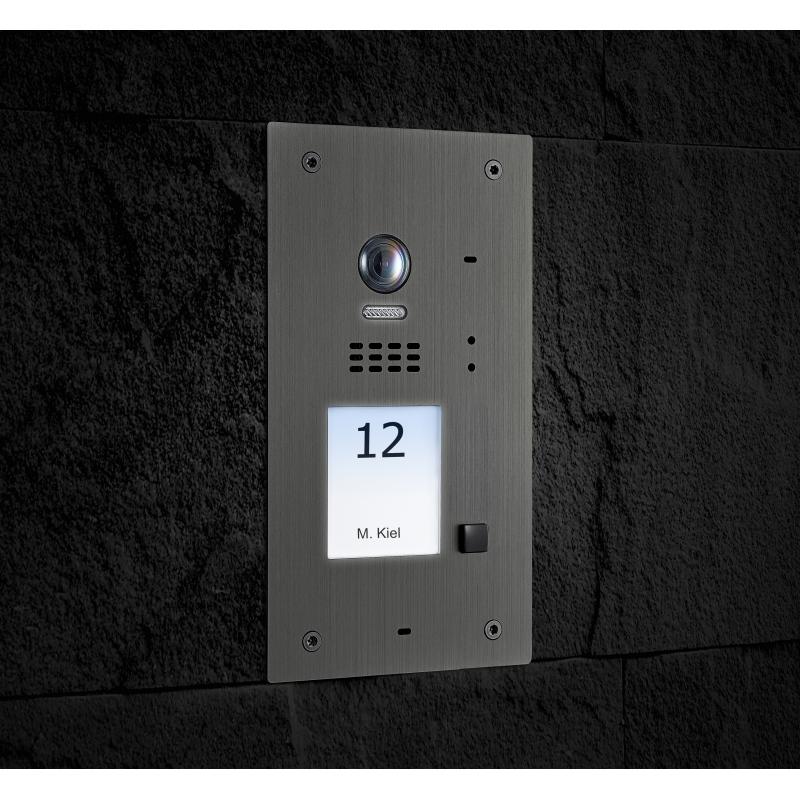 BALTER EVIDA Silver RFID Edelstahl-Türstation für 1 Teilnehmer, 2 ...