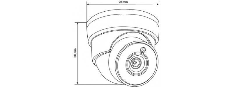 BALTER 2.0MP Infrarot Mini IP Dome-Kamera, 3.6mm Objektiv, 2592x1520p, Nachtsicht 30m, WDR 120dB, PoE/12V DC, IP66