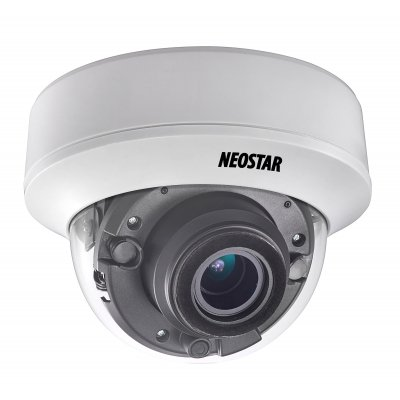 NEOSTAR 5.0MP EXIR HD-TVI Dome-Kamera, 2.8-12mm Motorzoom, Nachtsicht 30m, Smart-IR, 12V DC