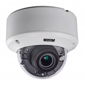 NEOSTAR 5.0MP Vandalensichere EXIR HD-TVI Dome-Kamera, 2.8-12mm Motorzoom, Nachtsicht 40m, Smart-IR, 12V DC, IP66