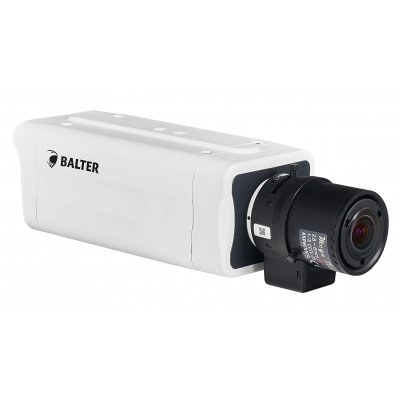 BALTER 5.0MP Box-Kamera, 2592x1944p, WDR 120dB, H.265, Videoanalyse, C/CS, microSD, Alarm IO, PoE/12V DC