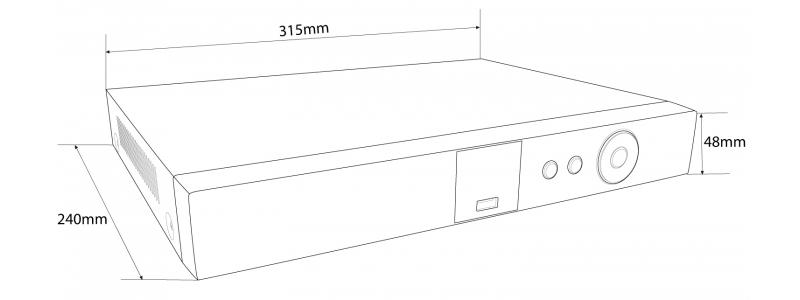 NEOSTAR 4-Kanal 4K UHD PoE Netzwerk Videorekorder, 3840x2160p, 40Mbit, H.265 / H.264, VCA, CMS, HDMI 4K, 48V DC