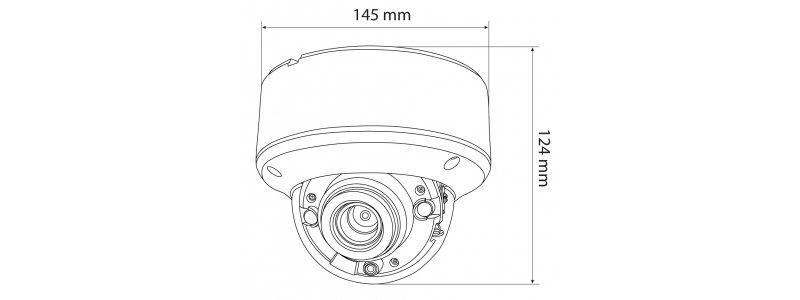 NEOSTAR 2.0MP Vandalensichere EXIR HD-TVI Dome-Kamera, 2.8-12mm Motorzoom, Nachtsicht 40m, WDR 120dB, Smart-IR, 12V DC, IP66