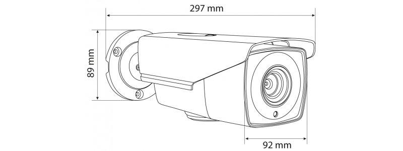 NEOSTAR 2.0MP EXIR HD-TVI Außenkamera, 2.8-12mm Motorzoom, Nachtsicht 25m, WDR 120dB, Smart-IR, 12V DC, IP66