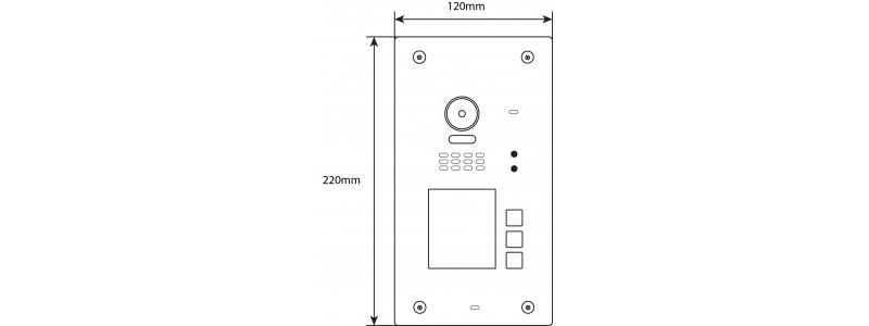 BALTER EVIDA Graphit RFID , 170° Ultra-Weitwinkelkamera