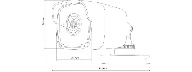 NEOSTAR 5.0MP EXIR HD-TVI Außenkamera, 3.6mm, Nachtsicht 20m, Smart-IR, 12V DC, IP66