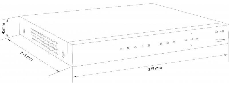 BALTER 8+4-Kanal Hybrid HD-TVI/AHD/CVI + IP Videorekorder, H.264, 5MP / 4MP, Audio, P2P, Balter CMS, HDMI 4K, 12V DC
