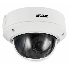 NEOSTAR 4.0MP Infrarot IP Dome-Kamera, 2.8-12mm Motorzoom, 2688x1520p, Nachtsicht 30m, WDR 120dB, H.264+, PoE/12V DC, IK10, IP67