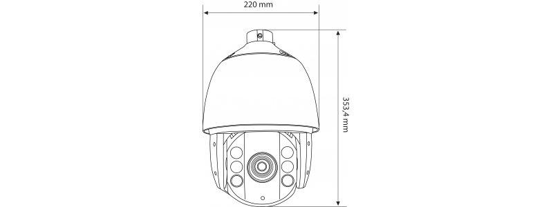 NEOSTAR 2.0MP EXIR HD-TVI PTZ-Kamera, 30X Zoom, 1920x1080p, Nachtsicht 120m, Smart-IR, H.264, 8 Touren, 24V AC, IP66