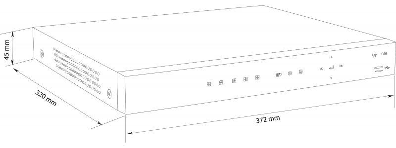 BALTER 4-Kanal PoE Netzwerk Videorekorder, 2592x1944p, H.265, P2P, Videoanalyse, Tripple-Stream, Balter CMS, HDMI 4K, 48V DC