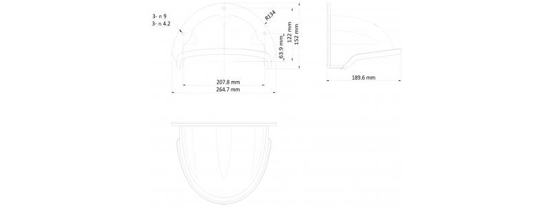 NEOSTAR Regenschutzdach für Dome-Kameras