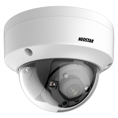 NEOSTAR 2.0MP Vandalensichere EXIR HD-TVI Dome-Kamera, 3.6mm, Nachtsicht 25m, WDR 120dB, Smart-IR, 12V DC, IP67
