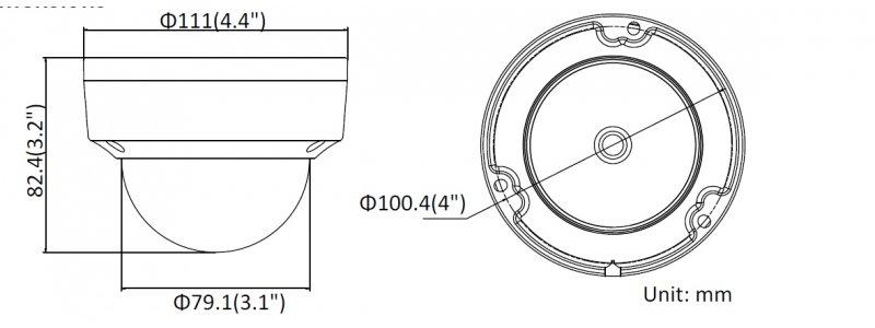 NEOSTAR 8.0MP EXIR IP Dome-Kamera, 2.8mm, 3840x2160p, Nachtsicht 30m, WDR 120dB, H.265+, VCA, PoE/12V DC, IK10, IP67