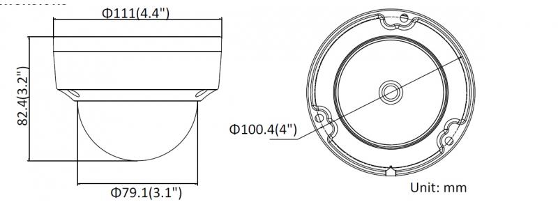NEOSTAR 6.0MP EXIR IP Dome-Kamera, 2.8mm, 3072x2048p, Nachtsicht 30m, WDR 120dB, H.265+, VCA, PoE/12V DC, IK10, IP67