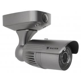 BALTER 5.0MP IR IP Außenkamera, 2.8-12mm Motorzoom, 2592x1944p, Nachtsicht 45m, WDR, H.265, Alarm, PoE/12V DC, IK10, IP66