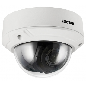 NEOSTAR 2.0MP Infrarot IP Dome-Kamera, 2.8-12mm Motorzoom, 1920x1080p, Nachtsicht 30m, WDR 120dB, H.264+, PoE/12V DC, IK10, IP67