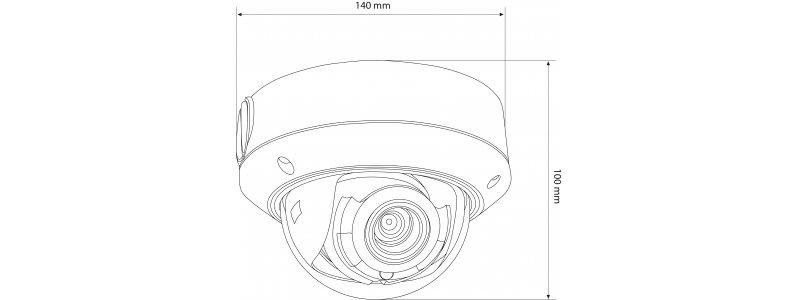 NEOSTAR 2.0MP Infrarot IP Dome-Kamera, 2.8-12mm Motorzoom, 1920x1080p, Nachtsicht 30m, WDR 120dB, H.264+, PoE/12V DC, IK10, IP67
