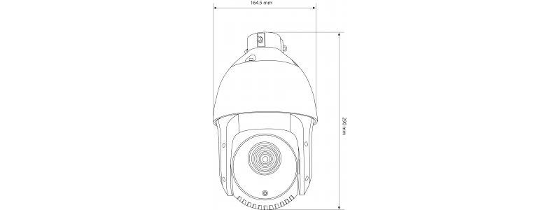 NEOSTAR 2.0MP EXIR IP PTZ-Kamera, 25X Zoom, 1920x1080p, Nachtsicht 100m, Smart-IR, H.265+, 8 Touren, PoE+/24V AC, IP66