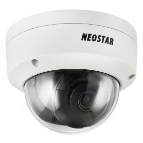 NEOSTAR 4.0MP EXIR IP Dome-Kamera, 2.8mm, 2560x1440p, Nachtsicht 30m, WDR 120dB, H.265+, VCA, PoE/12V DC, IK10, IP67
