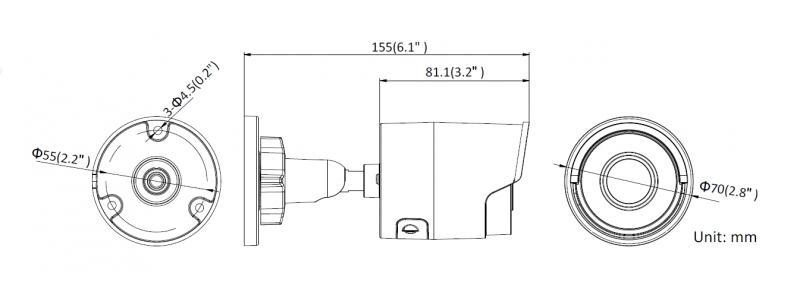 NEOSTAR 6.0MP EXIR IP Außenkamera, 2.8mm, 3072x2048p, Nachtsicht 30m, WDR 120dB, H.265+, VCA, PoE/12V DC, IP67