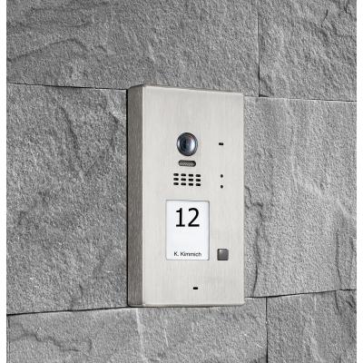 BALTER EVIDA Silver RFID Edelstahl-Türstation für 1 Teilnehmer, 2-Draht BUS Technologie, 170° , Aufputz