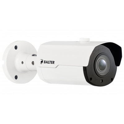 BALTER 8.0MP IR IP Außenkamera, 2.8-12mm Motorzoom, Autofokus, 3840x2160p, Nachtsicht 50m, WDR, H.265, PoE/12V DC, IK10, IP66