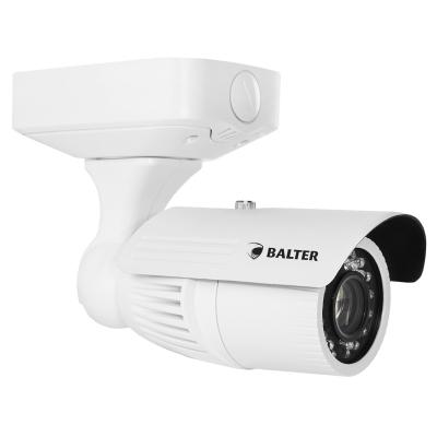 Analoge 750TVL Außenkamera, IR-LEDs, 5-50mm Objektiv, Junction Box, Weiß, 12V DC / 24V AC