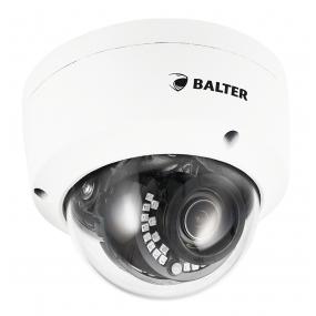 BALTER 4.0MP IR IP Dome-Kamera, 2.8-8mm Motorzoom, 2592x1520p, Nachtsicht 30m, WDR, H.265, PoE/12V DC, IP66