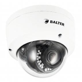 BALTER 4.0MP IR IP Dome-Kamera, 2.8-8mm Motorzoom, 2592x1520p, Nachtsicht 30m, WDR, H.265, PoE/12V DC, IP66