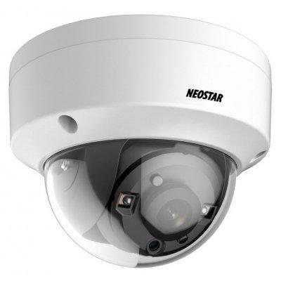 NEOSTAR 5.0MP EXIR TVI Dome-Kamera, 2.8mm, Nachtsicht 25m, Smart-IR, TVI / AHD / CVI / CVBS, 12V DC, IP67