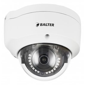 BALTER 5.0MP Infrarot IP Dome-Kamera, 2.8mm, 2592x1944p, Nachtsicht 30m, WDR 120dB, H.265, Videoanalyse, PoE/12V DC, IP66