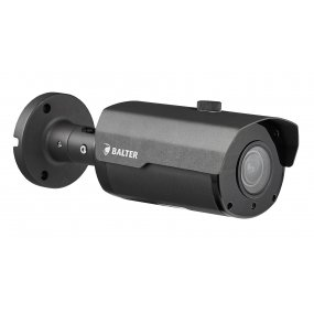 BALTER 5.0MP IR IP Kamera, 2.8-12mm Motorzoom, Autofokus, 2592x1944p, Nachtsicht 45m, WDR, H.265, PoE/12V DC, IK10, IP66