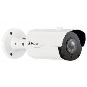 BALTER 5.0MP IR IP Kamera, 2.8-12mm Motorzoom, Nachtsicht 45m, WDR 120dB, H.265, Alarm, Audio, PoE/12V DC, IP66