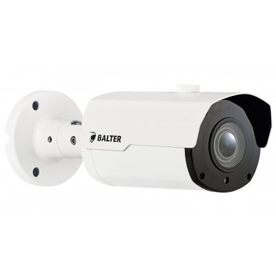 BALTER 5.0MP IR IP Kamera, 2.8-12mm Motorzoom, Nachtsicht 45m, WDR 120dB, H.265, Alarm, Audio, PoE/12V DC, IP66