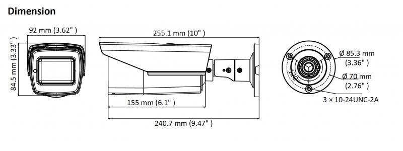 NEOSTAR 2.0MP TVI EXIR Außenkamera, 2.7-13.5mm Motorzoom, Autofokus, Nachtsicht 70m, WDR, 12V DC, IP67