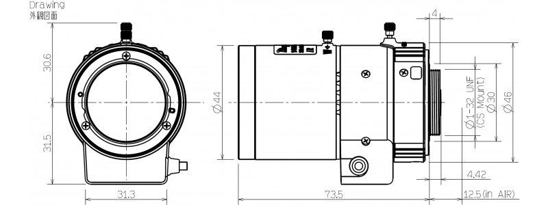 TAMRON 1/2.7'' 8 - 50mm Brennweite, 3.0MP Auflösung, Auto-Iris, Tag/Nachtobjektiv (IR), Asphärische Linsen