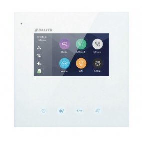 "BALTER JUNO 4.3"" WiFi Videostation, Touchscreen Bildschirm, 2-Draht BUS, Plexiglas, iOS + Android Apps"