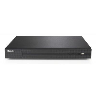 HiLook 16-Kanal TVI + 8-Kanal IP Rekorder, H.265, 4MP (TVI) / 6MP (IP), Audio, CMS, 12V DC