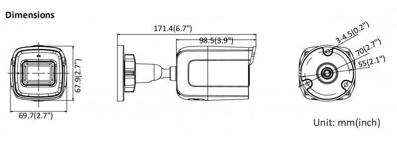 NEOSTAR 4.0MP EXIR WIFI IP Außenkamera, 2.8mm, 2560x1440p, Nachtsicht 30m, D-WDR, H.265+, 12V DC, IP67
