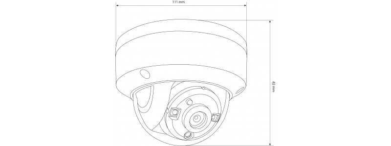 NEOSTAR 2.0MP Vandalensichere EXIR TVI / CVI / AHD Dome-Kamera, 2.8mm, Nachtsicht 30m, WDR 130dB, 12V DC, IK10, IP67