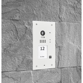 BALTER EVIDA White RFID Edelstahl-Türstation für 1 Teilnehmer, 2-Draht BUS, 170° Ultra-Weitwinkelkamera