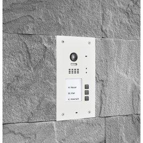 BALTER EVIDA White RFID Edelstahl-Türstation für 3 Teilnehmer, 2-Draht BUS, 170° Ultra-Weitwinkelkamera
